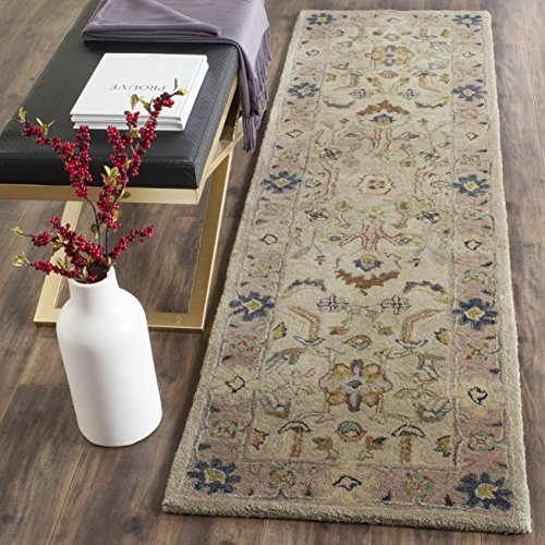 Safavieh Anatolia Collection AN585B Handmade Traditional Oriental Ivory and Beige Wool Runner (2'3