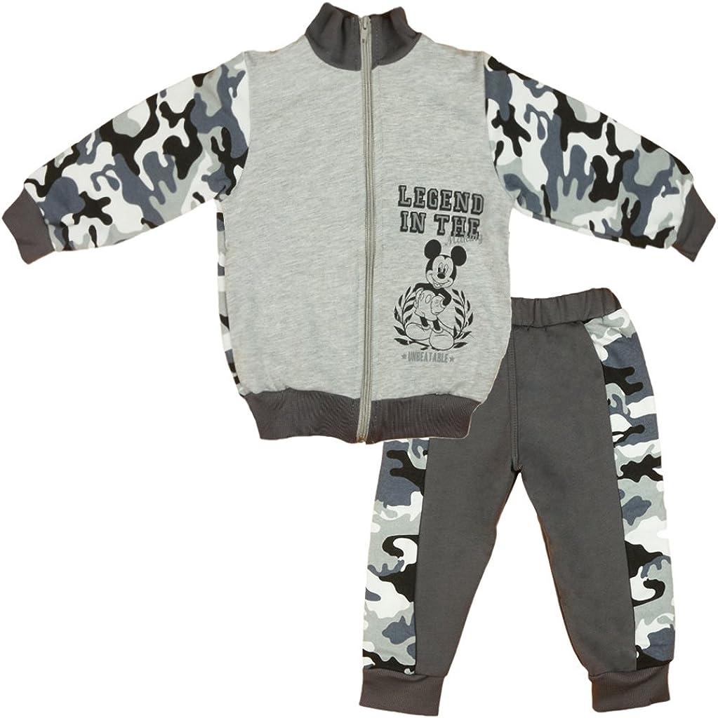 Disney Mickey Mouse Sportanzug 68 74 80 86 92 98 104 110 116 Baumwolle Outfit Jogginganzug Hose mit Jacke Kapuzen-Pullover 2Teiler Set Junge Gr