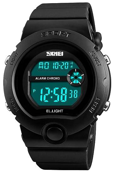 Reloj digital de mujer para niños y niñas, resistente al agua, alarma electrónica, multifuncional, reloj de pulsera luminoso: Amazon.es: Relojes
