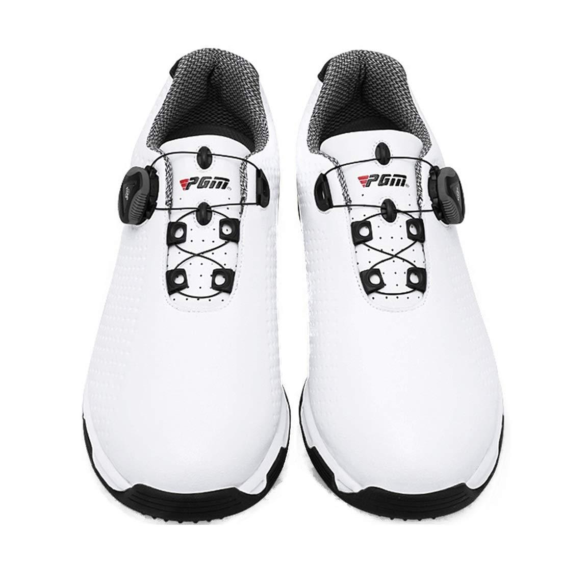 HappyPlatform Golfschuhe Spikes weniger Schuhe Wasserdichte Anti-Rutsch-Drehknöpfe Abriebfestigkeit multifunktional Für Weiß, den Außenbereich (Farbe : Weiß, Für Größe : 39) Weiß 8ce045