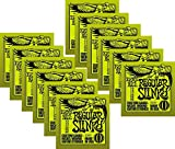 LOT OF 12 - Ernie Ball PO2221^12 Regular Slinky Electric Guitar Strings, Nickel Wound