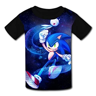 7b2f37c2 Amazon.com: Custom Kids Game The Hedgehog Tee Shirt T-Shirt for Children  Boys Girls: Clothing