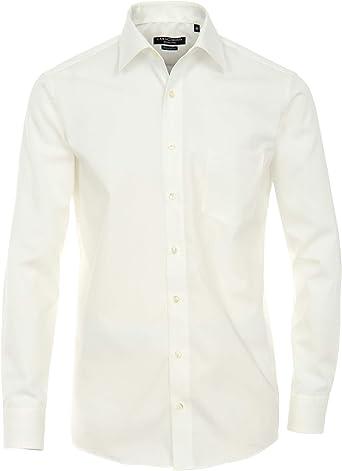 Casamoda - Camisa Regular fit de Manga Larga para Hombre, Talla 39, Color Hueso (Champagner): Amazon.es: Ropa y accesorios
