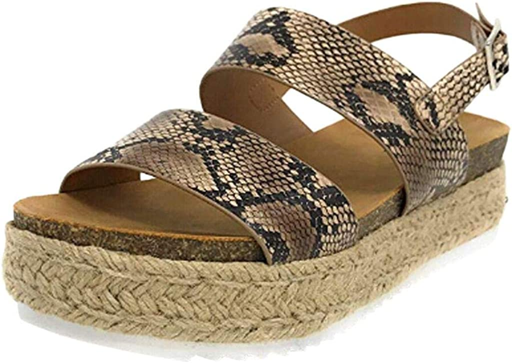 My Heat New Foreign Trade Large Size Muffin with Straw Buckle Ankle Strap Open Toe Sandals Beach Sandals