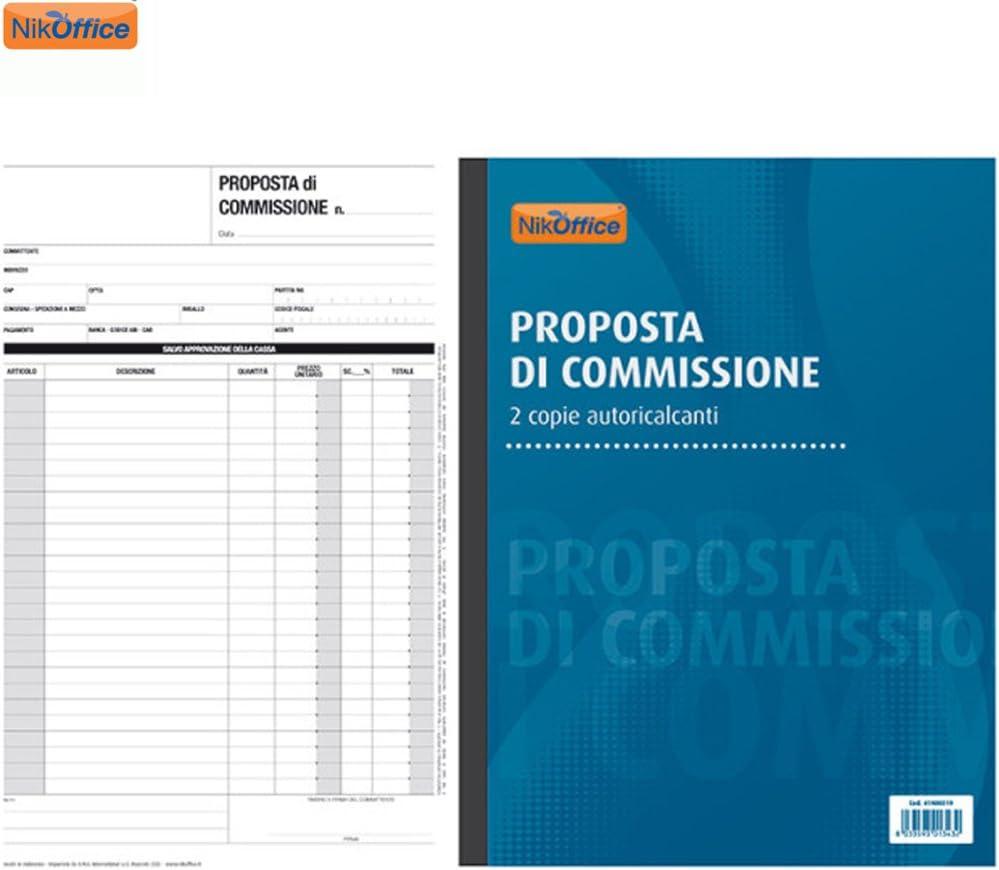 Proposta Di Commissione Blocco 2 Copie Autoricalcanti 50 Moduli A4 Registro NickOffice