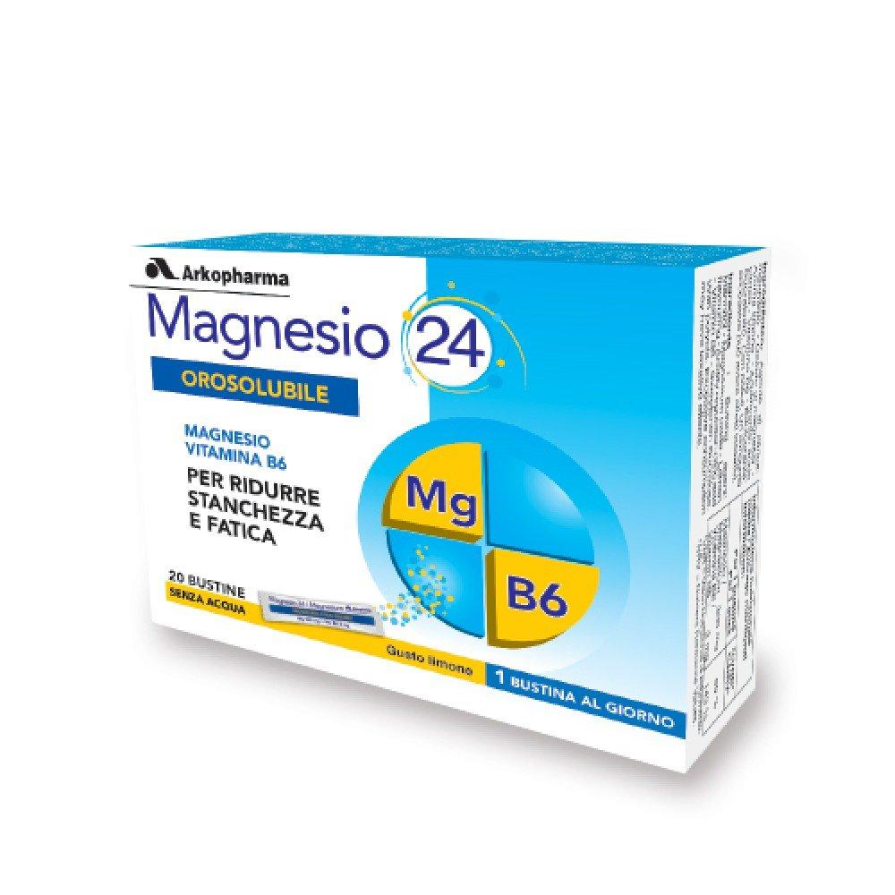 Arkopharma Magnesio 24 bucal Suplemento Alimentos 20 sobres: Amazon.es: Salud y cuidado personal