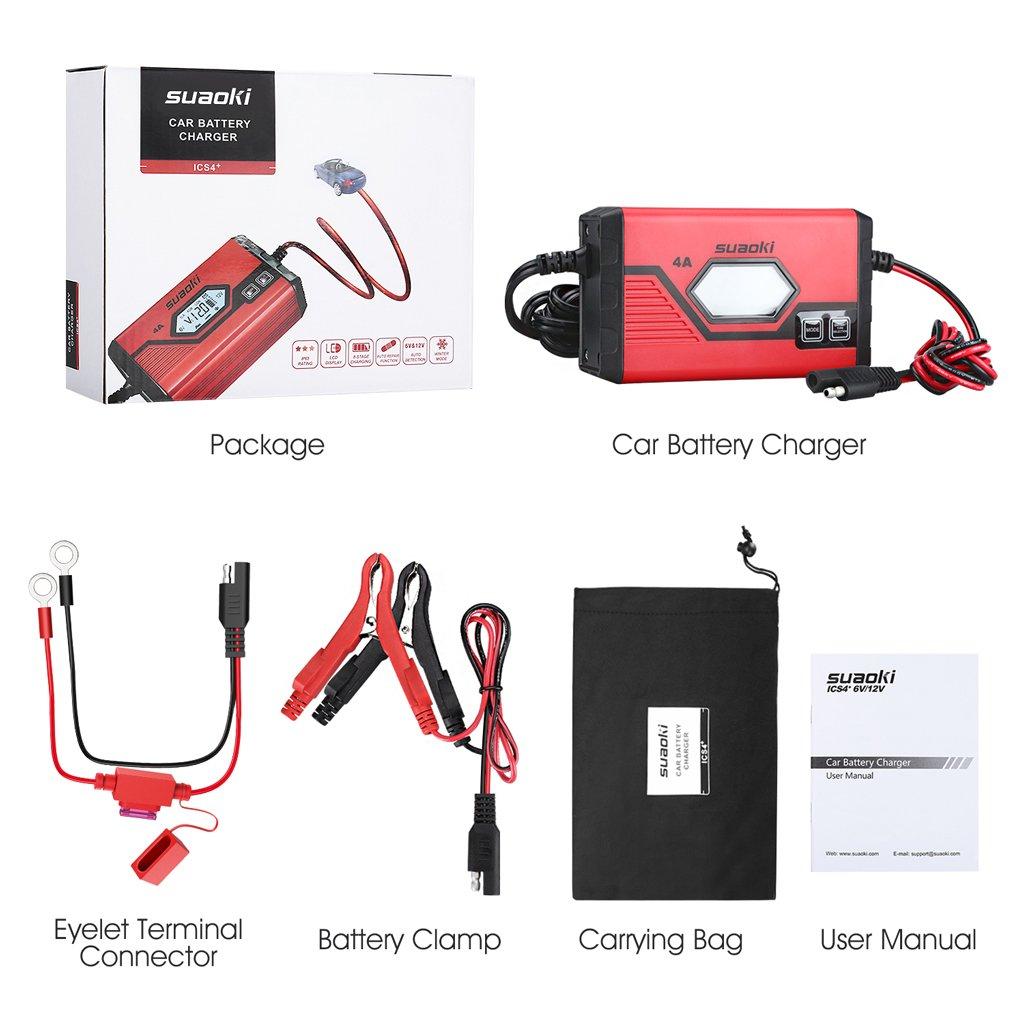 Motorrad PKW 7A// 3.5A ATV LCD Bildschirm f/ür KFZ SUAOKI ICS7 12V Batterie Ladeger/ät Schneemobil Rasentraktor und mehr Auto Boot