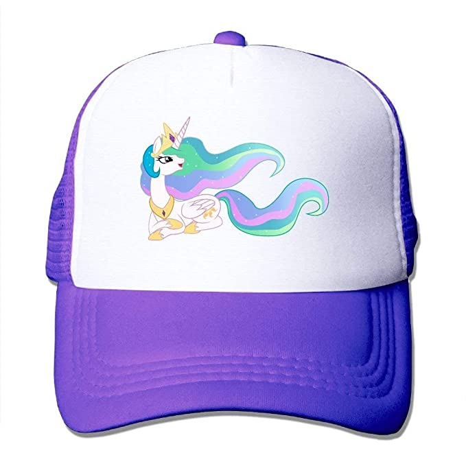 Amazon Com Unicorn Rainbow Hair Mesh Men Casual Trucker Baseball