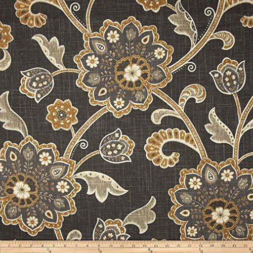 Braemore Fabrics Braemore Ankara Slub Noir