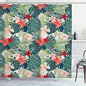 61Z86QHdSnL._SS300_ 200+ Beach Shower Curtains and Nautical Shower Curtains