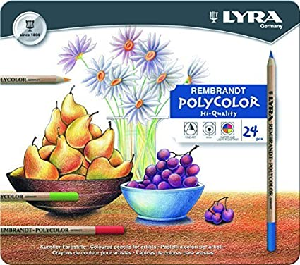 Lyra Rembrandt Polycolor Colored Pencils 2001240 Assorted Colors Set of 24