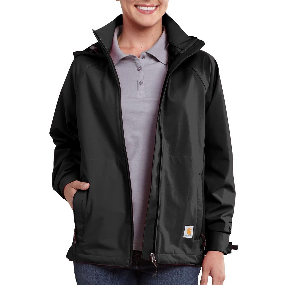 Carhartt Women's Force Equator Waterproof Breathable Jacket,Black,Small