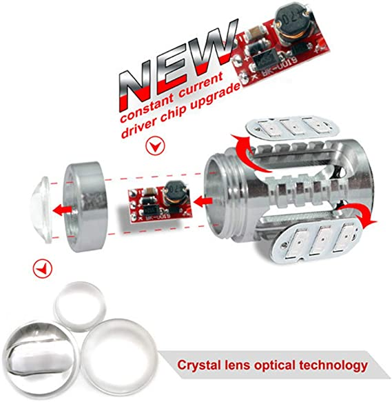 2x HB3 9005 LED Fog Light Bulbs 15W SMD 5730 12V High Power Bright DRL Ice Blue