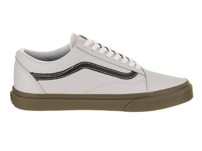 5c71f146dc3a0f Vans Unisex Old Skool (Bleacher) Gray Black Gum Skate Shoe 5 Men US   6.5  Women US  Amazon.co.uk  Shoes   Bags