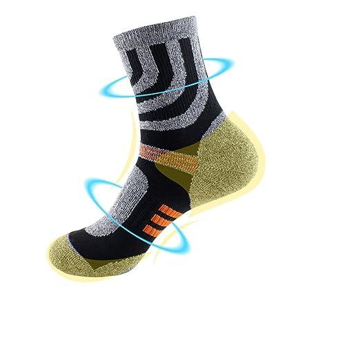 Los hombres de botas de montaña para hombre lana de merino calcetines calcetín lleno cojín 2