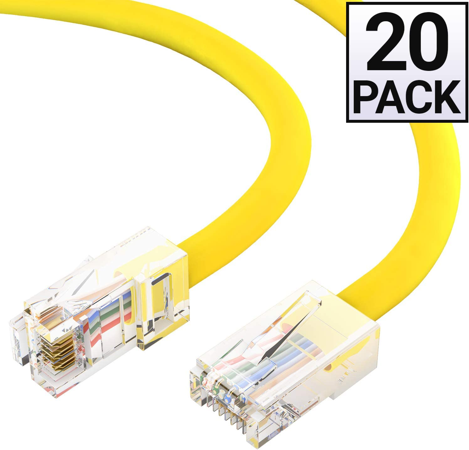 Available in 28 Lengths and 10 Colors Cat5e Ethernet Cable 1 Feet - Black RJ45 10Gbps High Speed LAN Internet Patch Cord Computer Network Cable with Snagless Connector GOWOS 10-Pack UTP