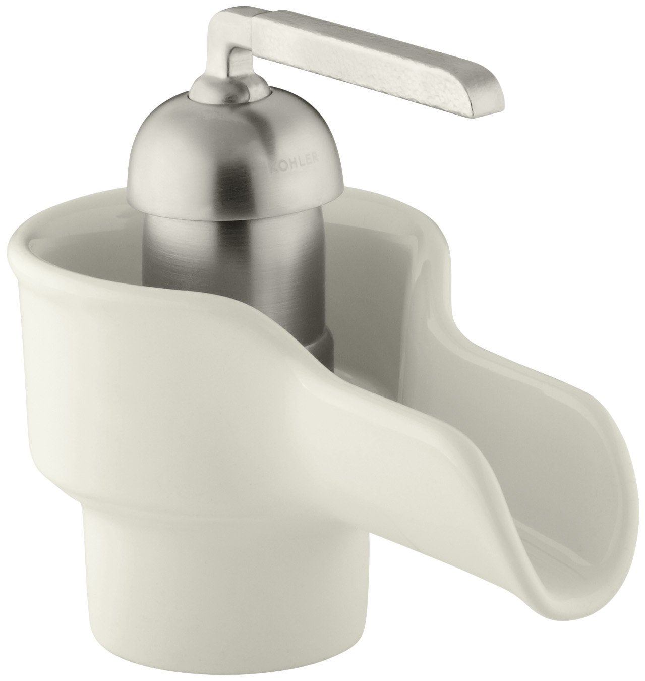 KOHLER K Bol Ceramic Faucet White Touch On Bathroom Sink - White bathroom faucet fixtures