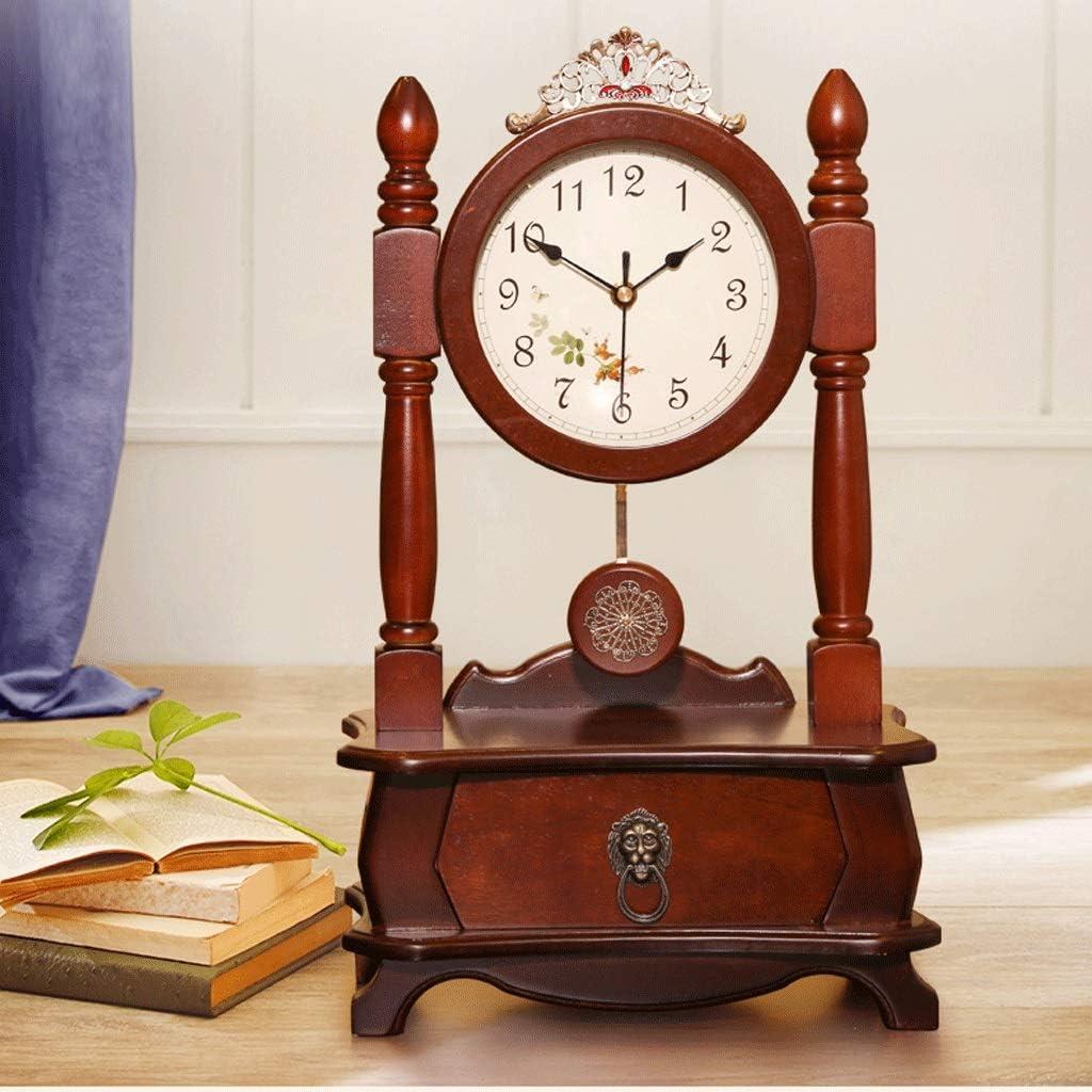 Amazon Com Jiahe115 Retro Clocks Personalized Clocks Clocks Decorated Living Room Table Clock Large Desktop Pendulum Clock Home Clocks Simple Decorative Clocks Home Kitchen