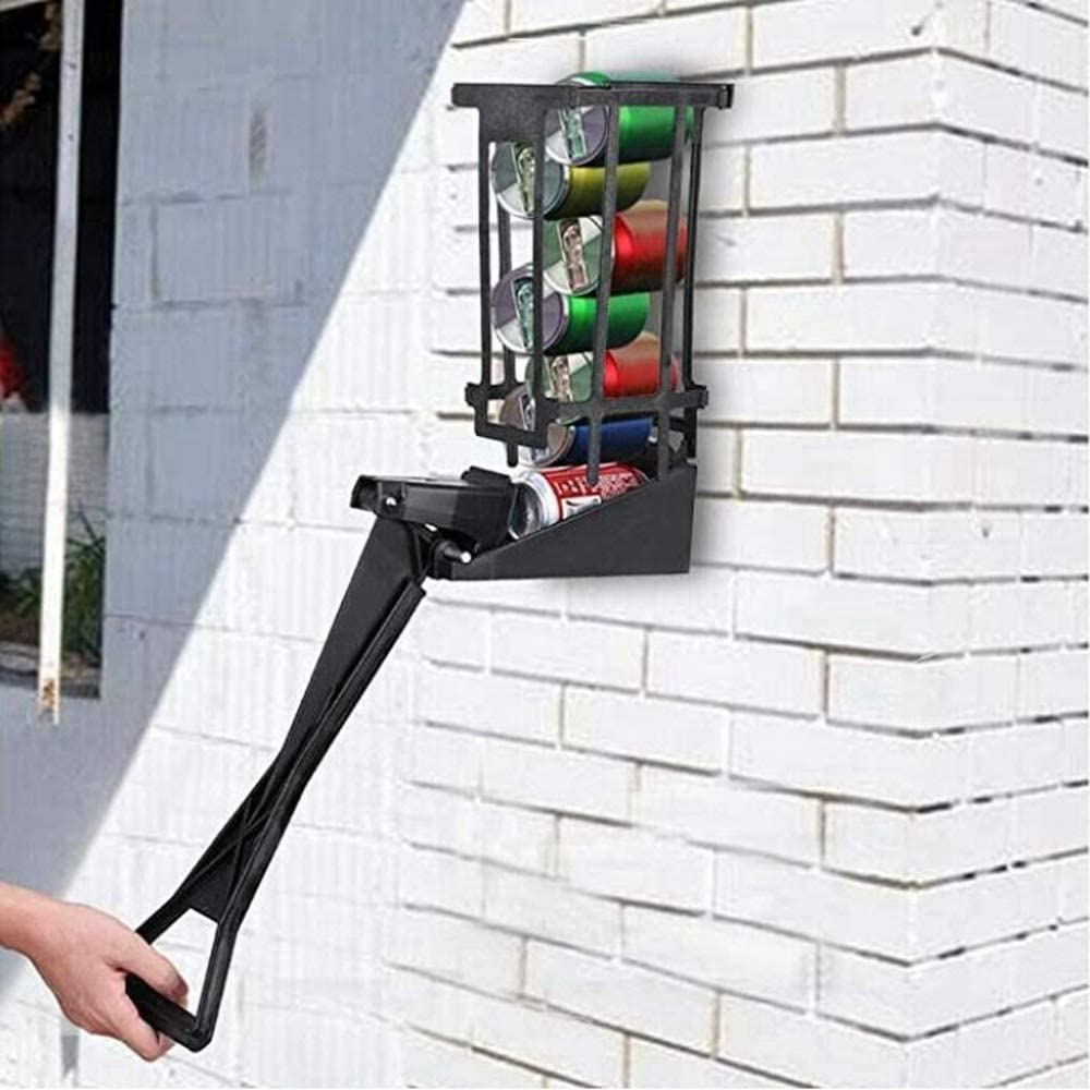 Aluminum Soda Beer Recycling Heavy Duty Easy Pull Heavy Steel Structured Easily Wall Mounts Soda Beer Can Crusher Heavy Duty Wall Mounted Soda Beer Smasher