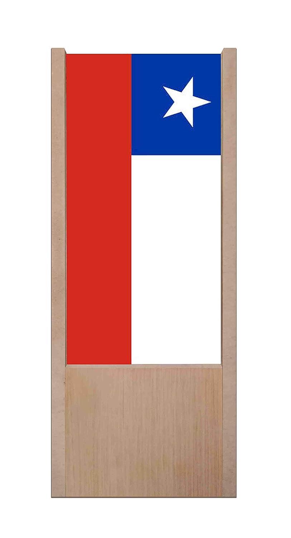 lámpara de mesa de madera bandera Chile: Amazon.es: Iluminación