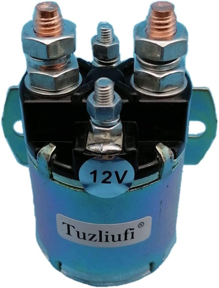 Tuzliufi Replace Starter Solenoid Relay Switch 12V DC Copper Contact Max 150A-200A 4 Terminals New Z490