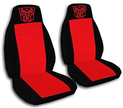 Marvelous Amazon Com 2 Black And Red Robot Seat Covers For A 2009 To Gmtry Best Dining Table And Chair Ideas Images Gmtryco