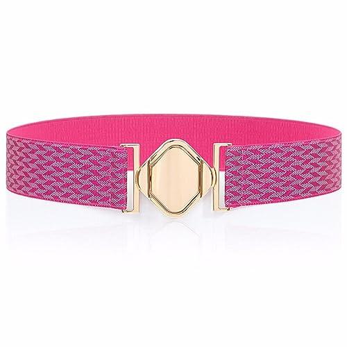 ZHANGYONG 4cm De Ancho Simple Mujer Cintura Elástica Junta Vestido Decorativo Cinturón Ancho