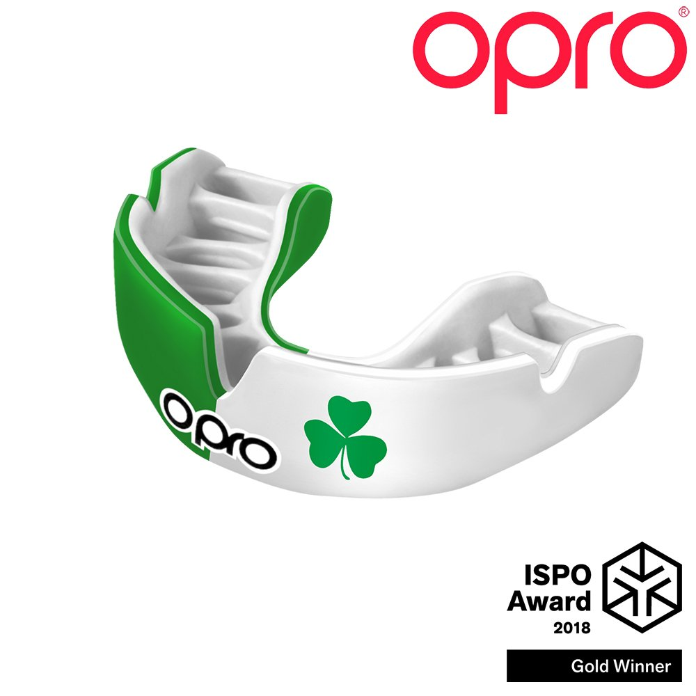 Opro Power-Fit Mouthguard | Adult Handmade Gum Shield for Football, Rugby, Hockey, Wrestling, and Other Combat and Contact Sports - 18 Month Dental Warranty (Ages 10+) (Ireland)