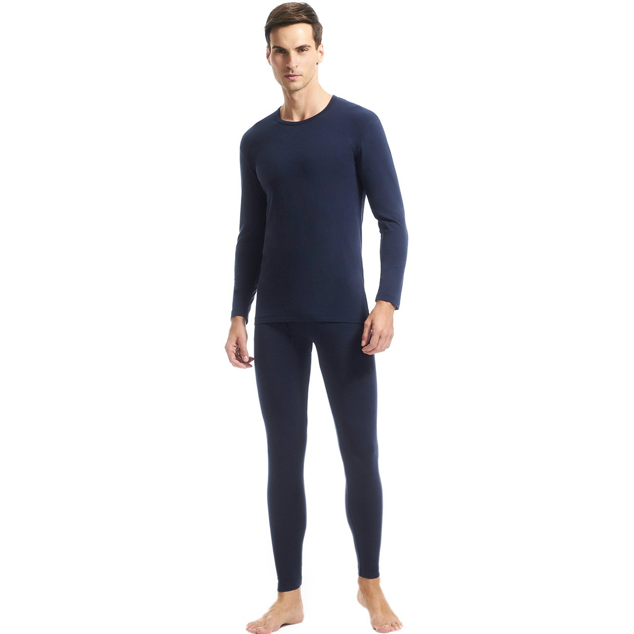 SANQIANG Men's Elastic Lycra Thermal Set Lightweight Ultra Soft Long John Underwears 22155D2