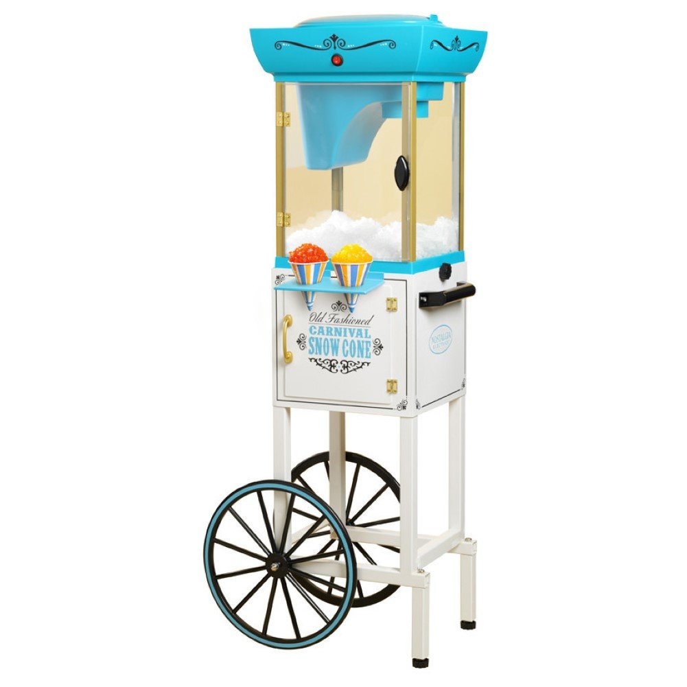 Nostalgia Electrics Vintage Collection Snow Cone Cart, Snow Cone Machine by Unknown