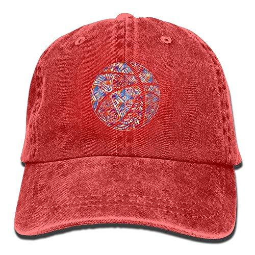 béisbol Colorful hanbaozhou Womens Basketball Hats Gorras Baseball Denim Hat Adjustable Washed pq55gEwr