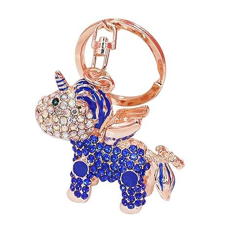 Cupcinu Llavero Unicornio Llaves de Dibujos Animados Colgante Llavero Brillante Coloreado Llavero de aleación para Bolsos
