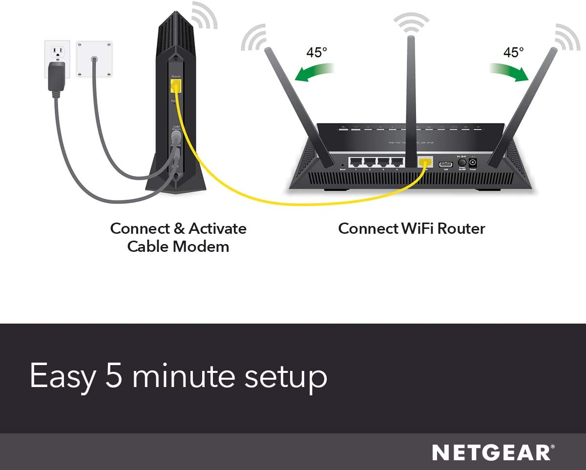 NETGEAR Cable Modem CM700 - Compatible with All Cable Providers Including Xfinity by Comcast, Spectrum, Cox   for Cable Plans Up to 800Mbps   DOCSIS 3.0