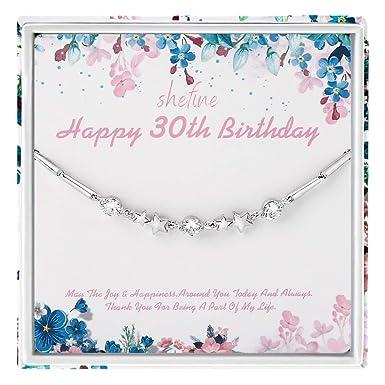 Regalo de cumpleaños 30 para mujer - plata de ley 925 con ...