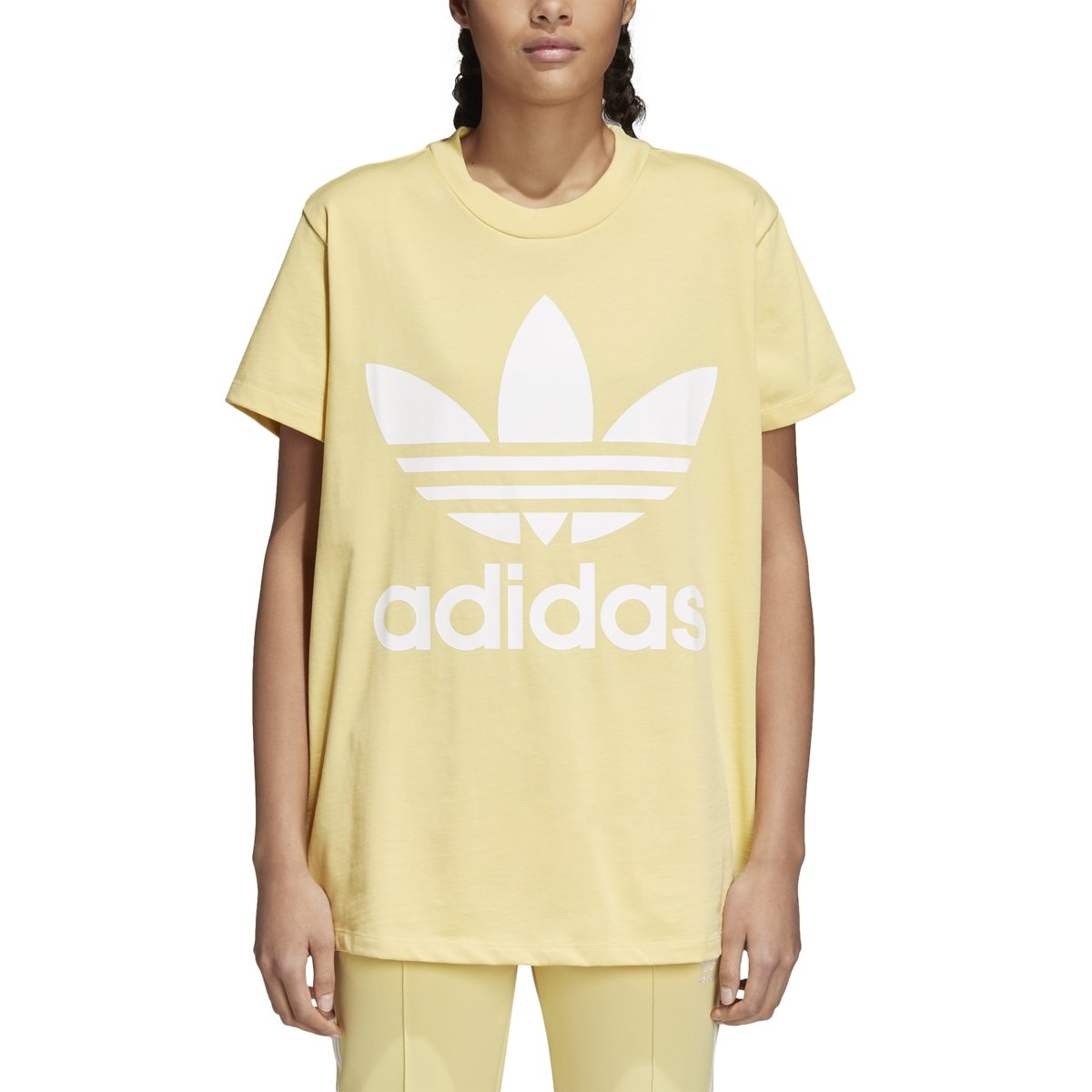 adidas Women's Originals Big Trefoil Logo Tee (M, Sand)