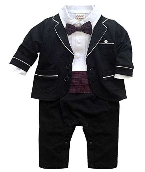 fa333f15 Baby Boy Outfit Baptism Suit Natural Clothes First Birthday Wedding Beach  Family Photos Formal Set Black
