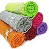 "Compra Cooling Towel for Instant Relief - 40"" Long As Scarf - XL Ultra Soft Breathable Mesh Yoga Towel - Keep Cool for Running Biking Hiking Golf & All Other Sports, Waterproof Bag Packaging with Carabiner en Usame"