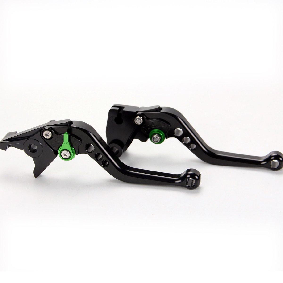 Short CNC anodized Brake Clutch Levers For Kawasaki ZX6R/636/Z1000 2007-2016, Z750R 2011-2012, ZX10R 2006-2015, Z1000SX/NINJA 1000/Tourer 2011-2016