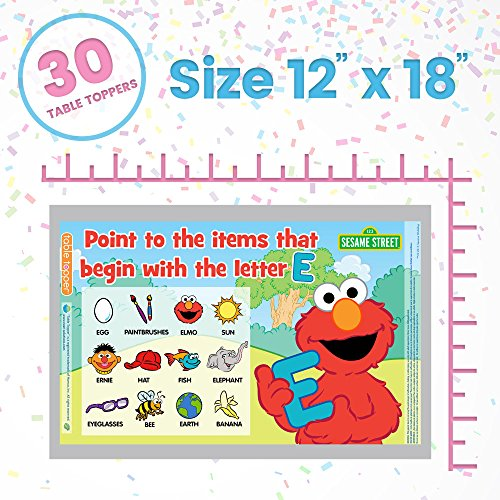 Neat Solutions Sesame Street Table Topper Disposable Stick-in-Place Placemats - 30 Count by Sesame Street (Image #4)