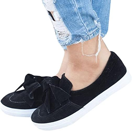 WOMENS LADIES SUEDE LOAFERS STYLE FLAT BOW TRAINERS PUMPS PLIMSOLLS SHOES BLACK