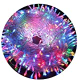200 LED RGB Multi-Color Fairy String Lights Lamp for Xmas Tree Holiday Wedding Party Decoration Halloween Showcase Displays Restaurant or Bar and Home Garden - Rainbow