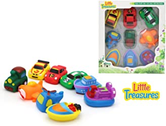 Little Treasures Bathe Time Fun Transport Mania II Bath Toys for Babies 9 pc Bath Toy