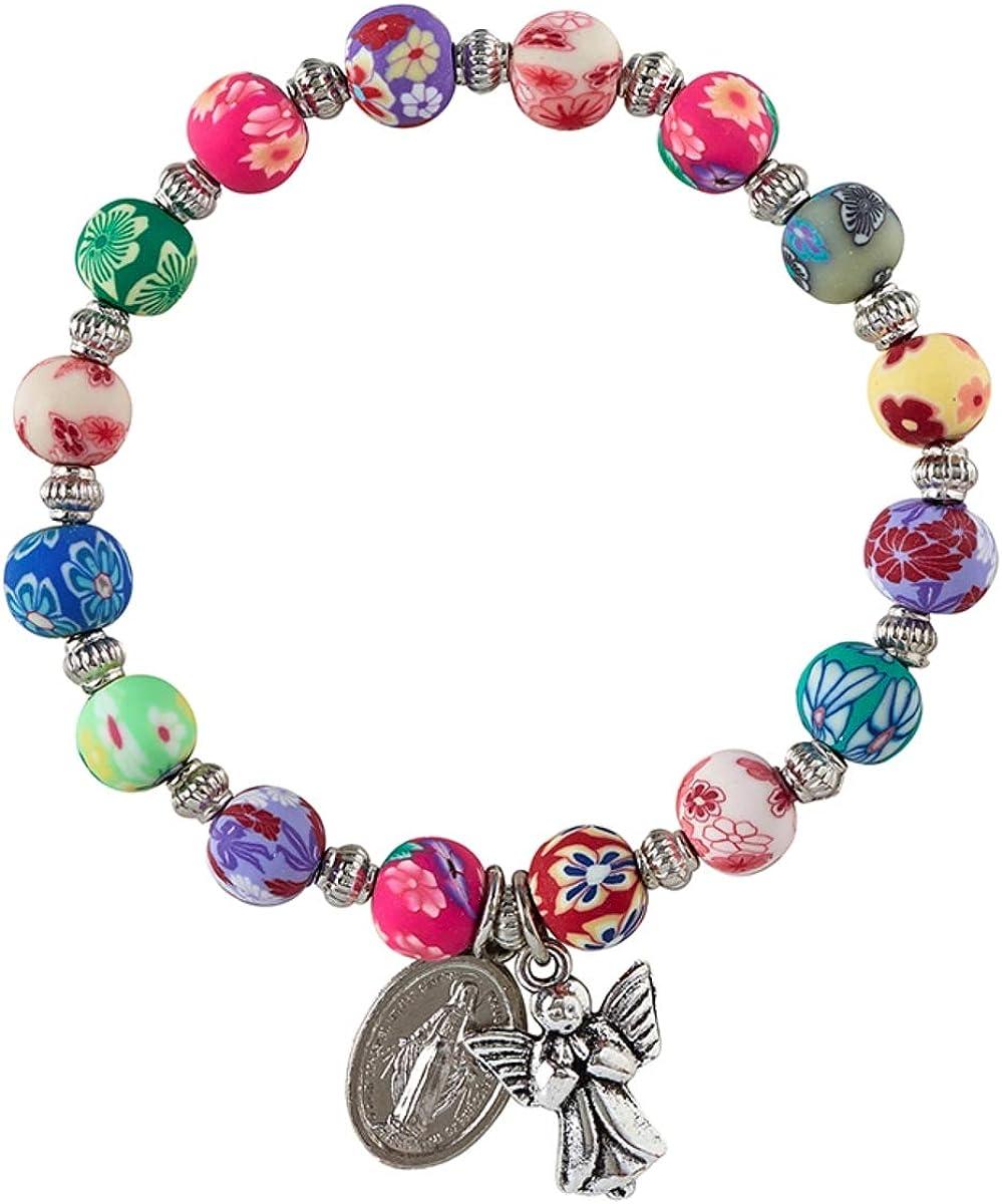 CoralGreen-GreyBlack Beaded Bracelet Colorful Bracelet