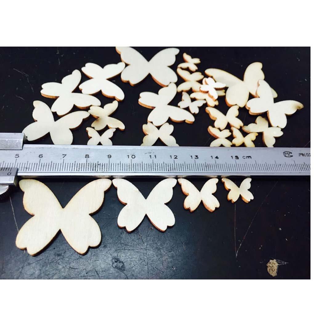 Level Mix Papillon Sized 50pcs Shaped Aucun Trou Am/énag/ée Couture Boutons en Bois de Bricolage Scrapbooking D/écoration