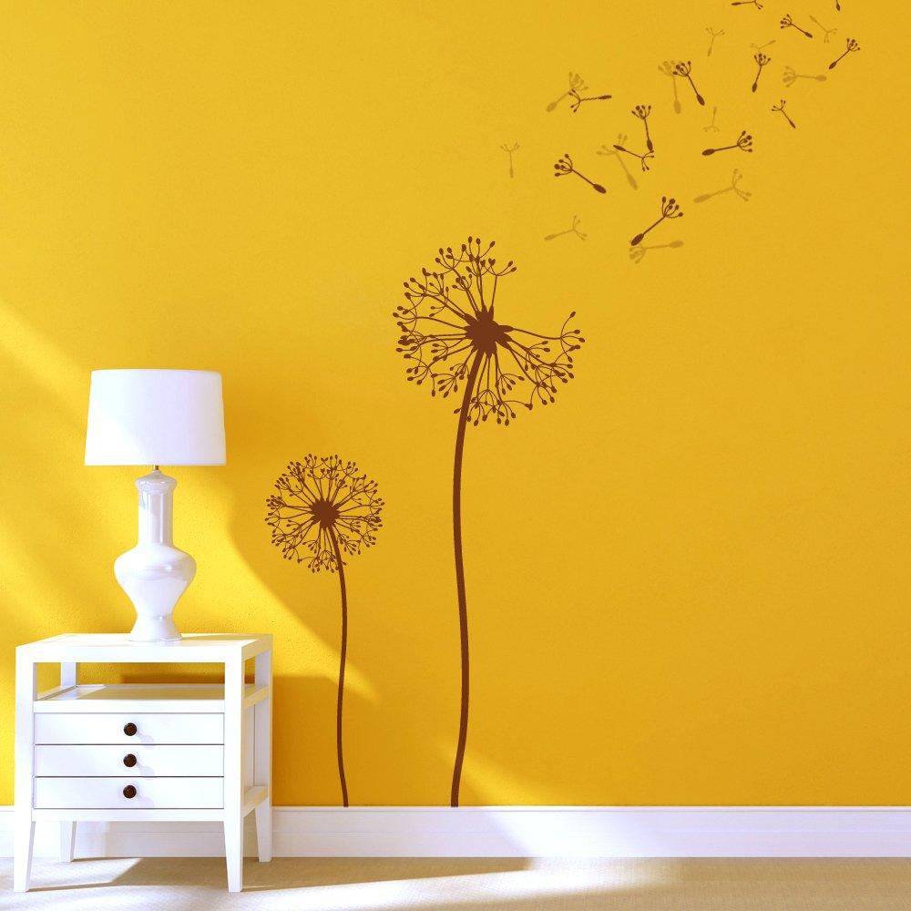 Amazon.com: J BOUTIQUE STENCILS Dandelion Flower Stencils for Wall ...