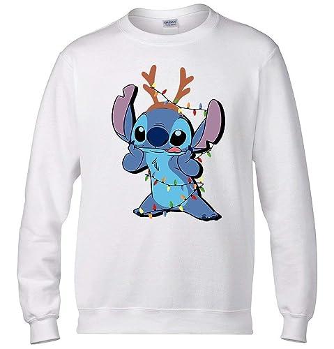 bfa8fa788 Amazon.com  Stitch Christmas Sweater- Lilo and Stitch Sweater  Handmade