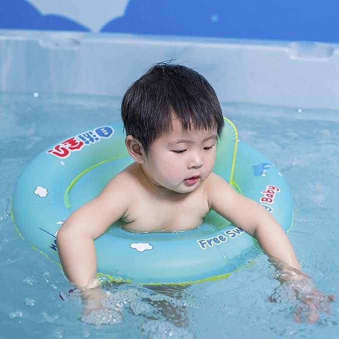 Libre natación bebé diseño de bebé asiento barco flotador inflable con antivuelco redondo: Amazon.es: Hogar