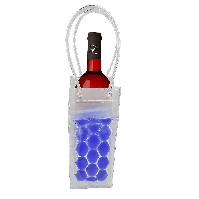 joka international GmbH 2 Flaschenk/ühler Tasche mit Eisgel zum einfrieren Sektk/ühler Weink/ühler blau