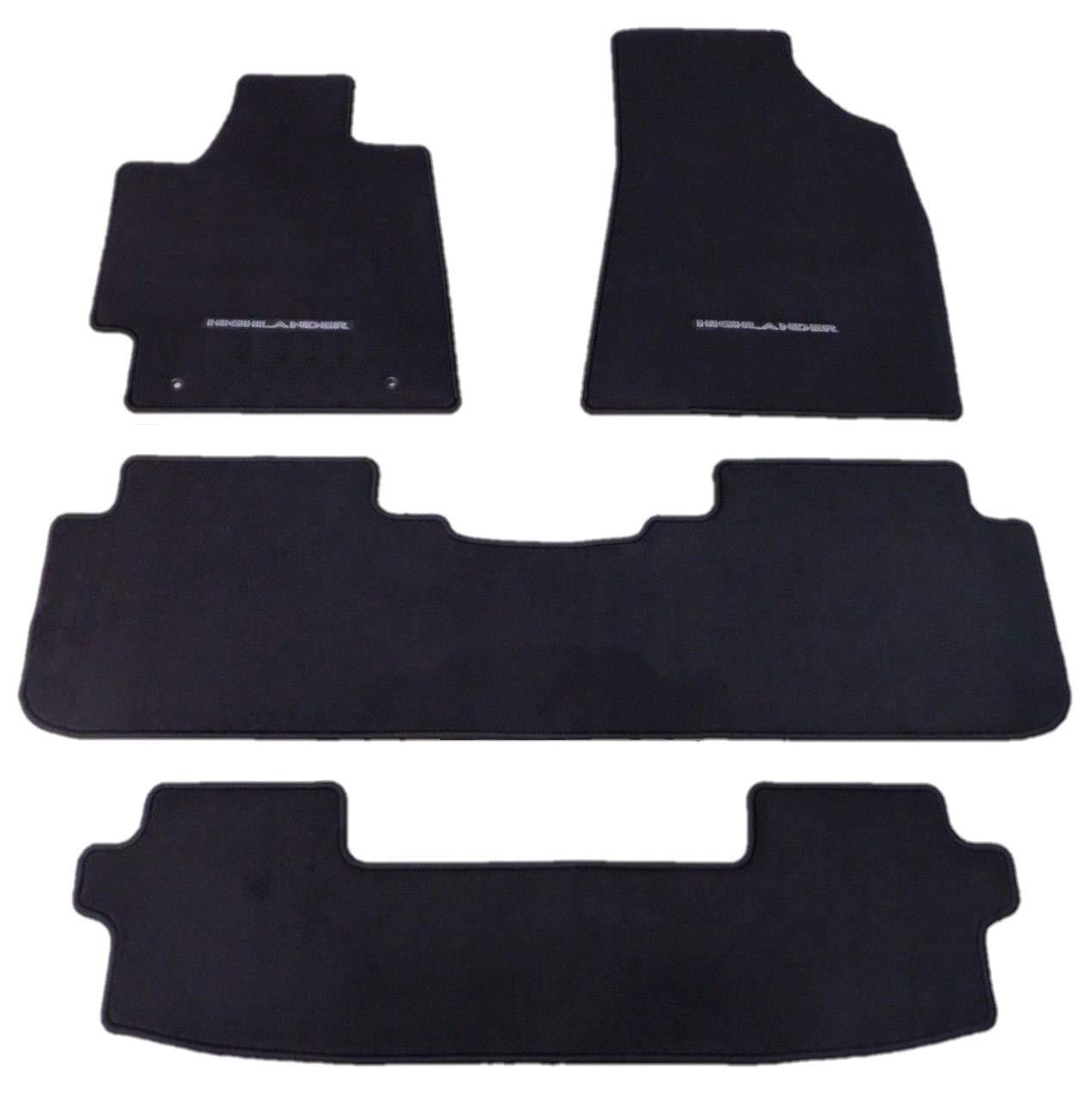Smartliner 2008 2019 Toyota Sequoia Floor Mat Custom Liner: 2010 Toyota Highlander Carpet Floor Mats