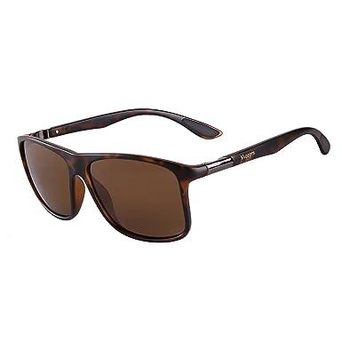 7e8d38dbfc Vseegrs Vintage Oversized Square Aviator Polarized Sunglasses for Men  Wayfarer Shades with UV Protection (leopard